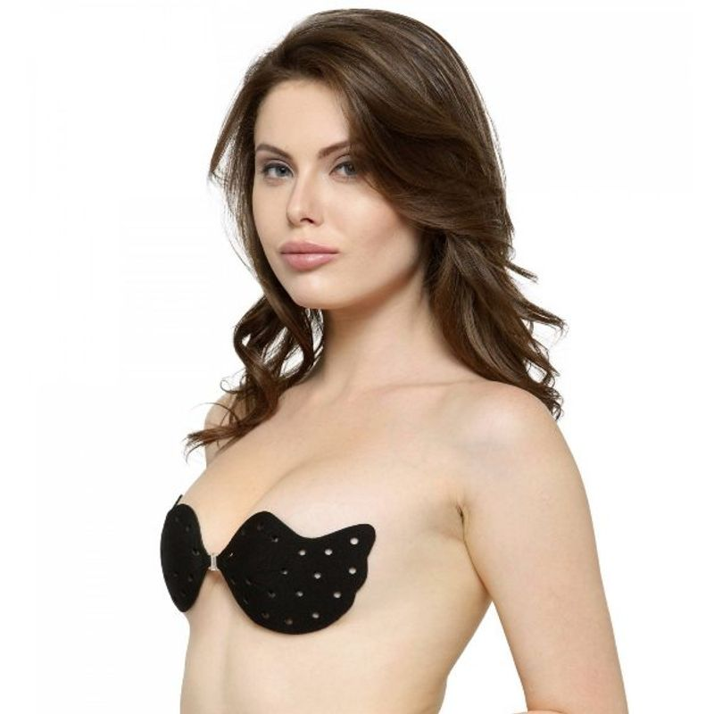 4c03d4e799309 N-Gal Adhesive Breathable Ultra-thin Air Hole Black Push Up Invisible Stick  On Backless Strapless Bra at Nykaa.com