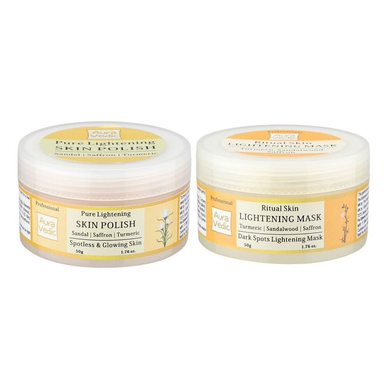 Auravedic Skin Lightening Mask + Sandal Polish