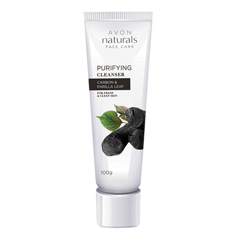Avon Naturals Face Care Purifying Cleanser Carbon & Perilla Leaf For Fresh & Clear Skin