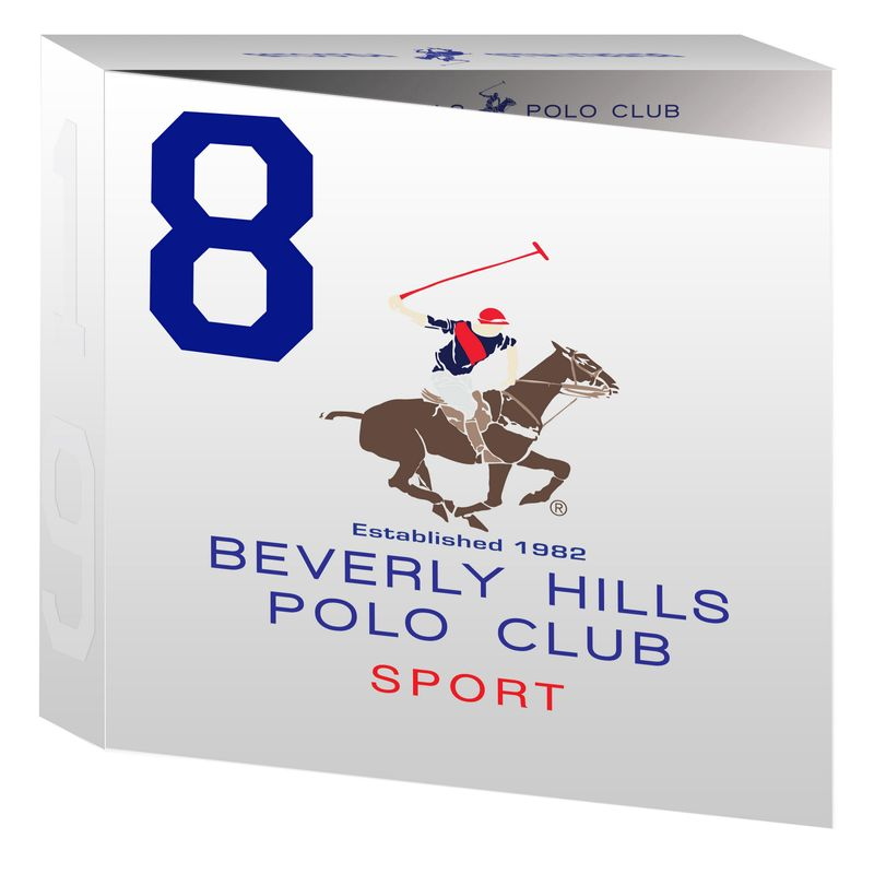 Beverly Hills Polo Club Mens Deodorant, Shower Gel And Eau De Toilette No.8 Gift Set