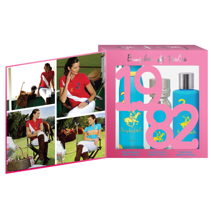 Beverly Hills Polo Club Women Body Fragrance, Body Wash And Eau De Parfum No.2 Gift Set