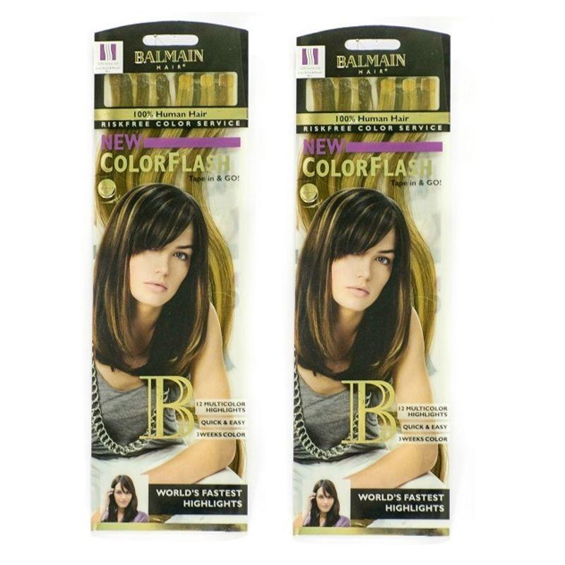 Balmain Paris Color Flash 40Cm Hair Extension - Honey Blonde & Walnut(B1G1)