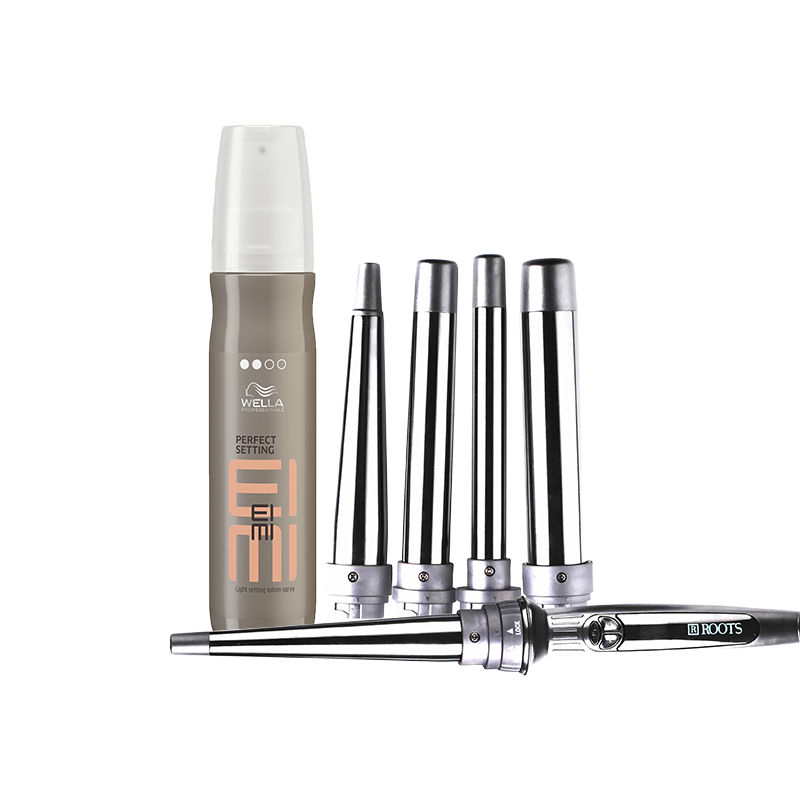 Wella Professionals EIMI Light Setting Lotion Spray + Roots Curl Pro 501 – Multi Tong Curler