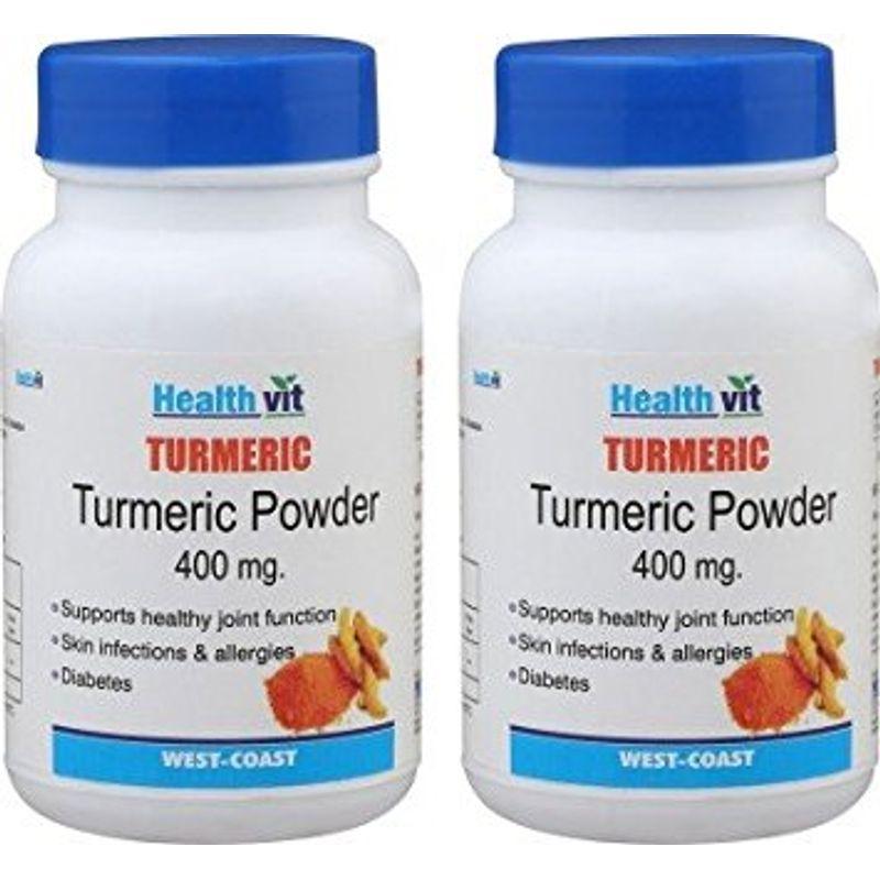 Healthvit Turmeric Powder 400mg (Pack Of 2)
