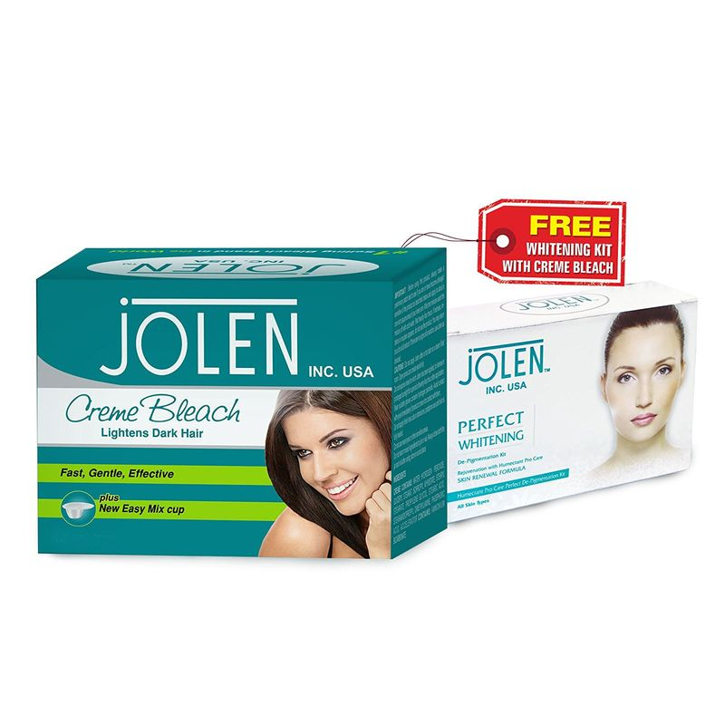 Jolen Crème Bleach + Free Perfect Whitening Glow Facial Kit