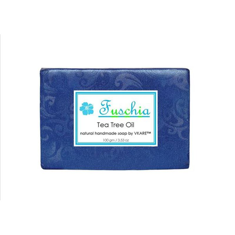 Fuschia Tea Tree Oil Natural Handmade Herbal Soap