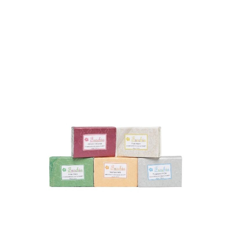 Fuschia Set Of 5 Natural Herbal Handmade Herbal Soaps - HS2