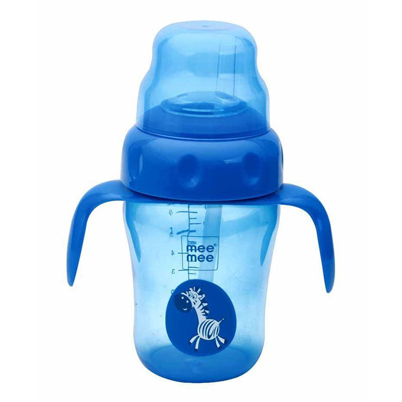 Mee Mee 2 In 1 Spout And Straw Sipper Cup Blue 210ml