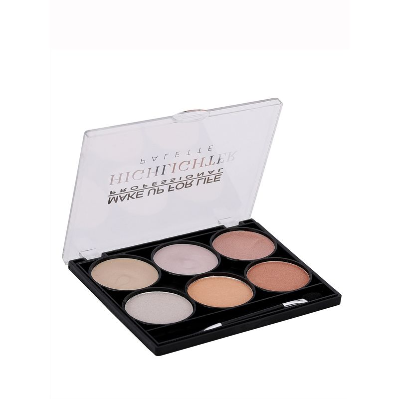 Make Up For Life 6 Color Highlighter Palette No - 01