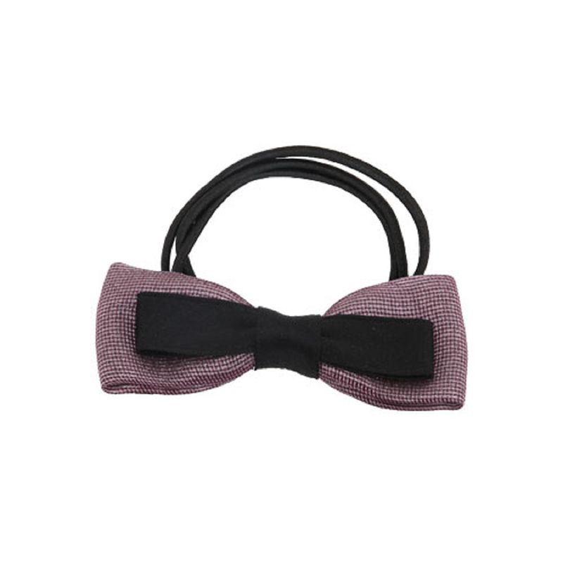 Missy Dual Bow Shimmery Mauve Rubber Band