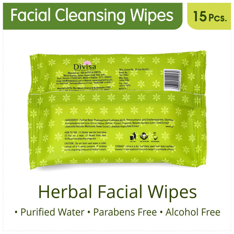 Roop Mantra Aloevera Facial Cleansing Wipes(15 Wipes)