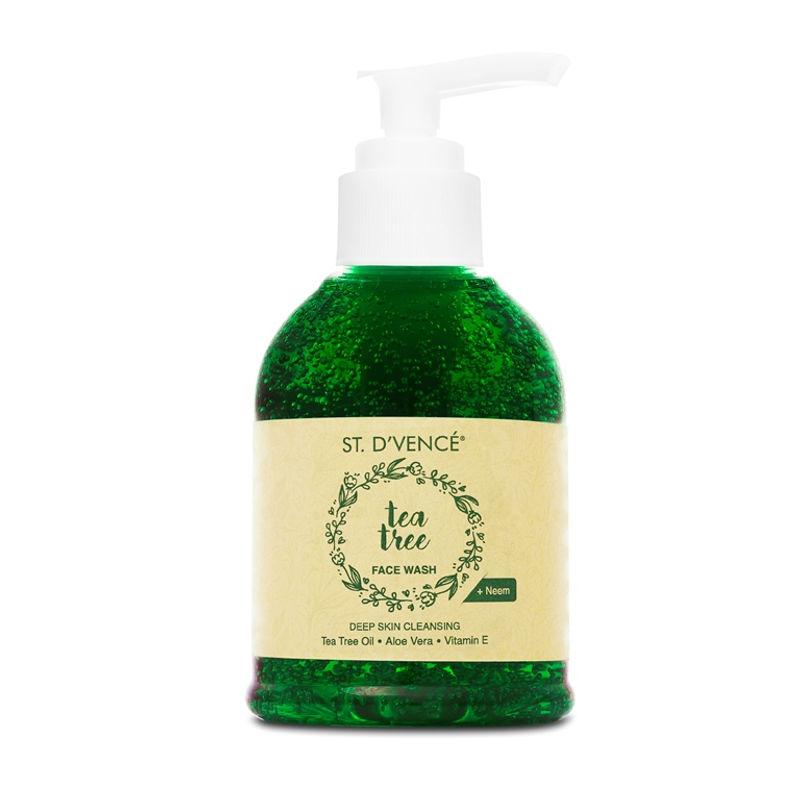 St. D'Vencé Essential Tea Tree Oil Deep Skin Cleansing Face Wash