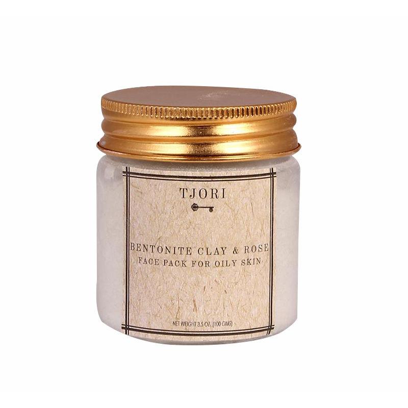 Tjori Bentonite Clay & Rose Face Pack For Oily Skin