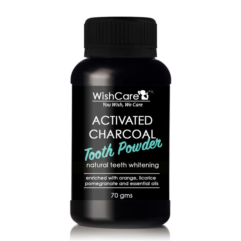 Wishcare Activated Charcoal Tooth Powder For Natural Teeth Whitening