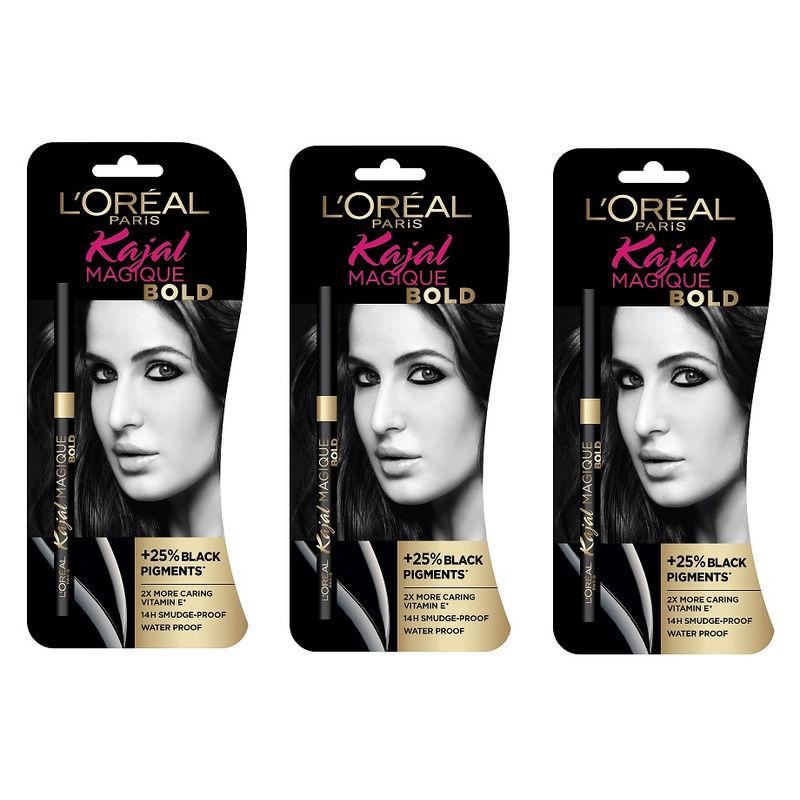 L'Oreal Paris Kajal Magique Bold (Pack Of 3)
