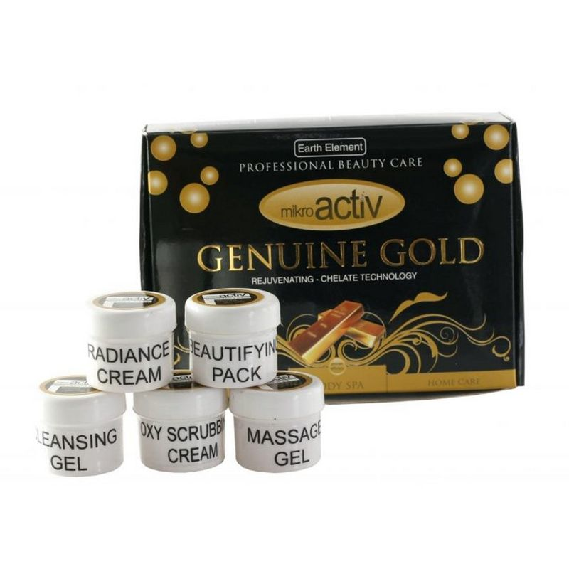 Mikroactiv Genuine Gold Facial Kit (Set Of 5) (Buy 1 Get 1)