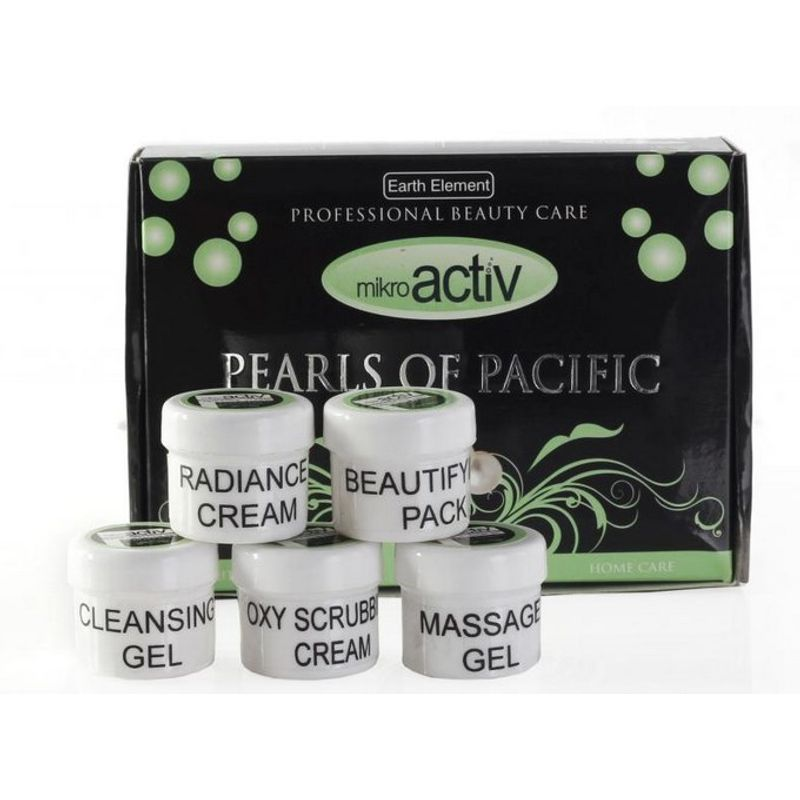 Mikroactiv Pearls Of Pacific Facial Kit (Set Of 5) (Buy 1 Get 1)
