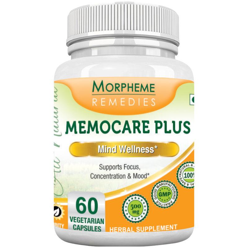 Morpheme Remedies Memocare Plus For Mental Alertness - 500mg Extract