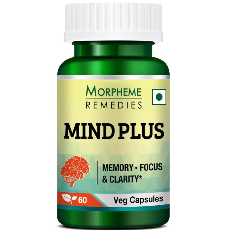 Morpheme Remedies Mind-Plus Capsules For Mental Alertness - 500mg Extract