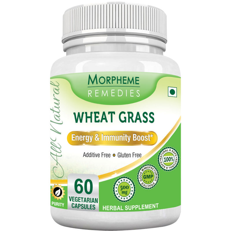 Morpheme Remedies Wheatgrass Supplements For Energy & Immunity Boost - 500mg Extract