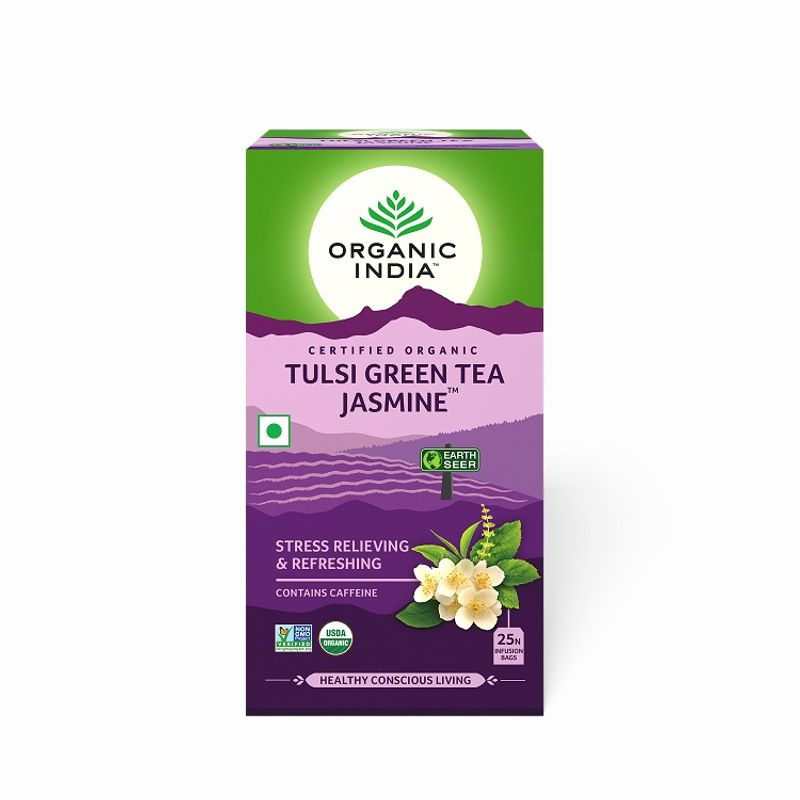 Organic India Tulsi Jasmine Green Tea (25N Infusion Bags)