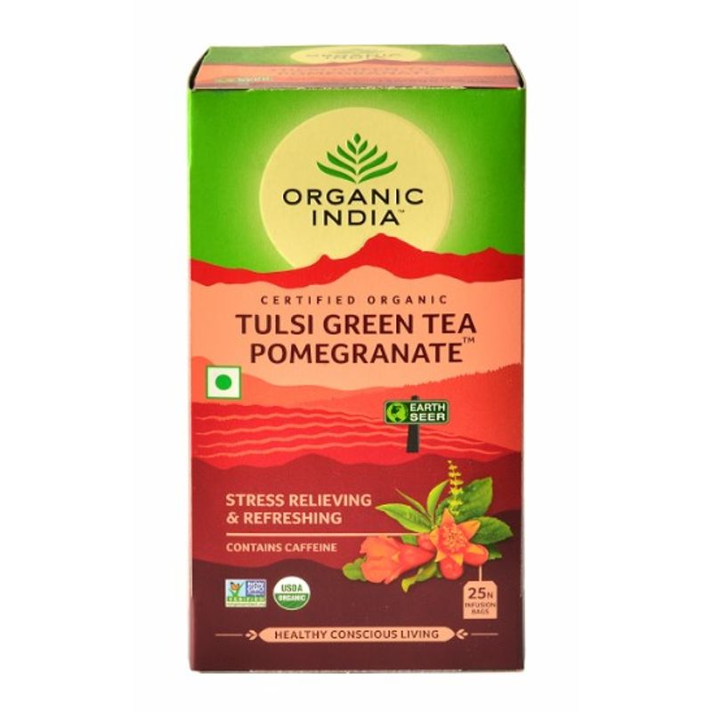 Organic India Tulsi Pomegranate Tea (25 Tea Bag)
