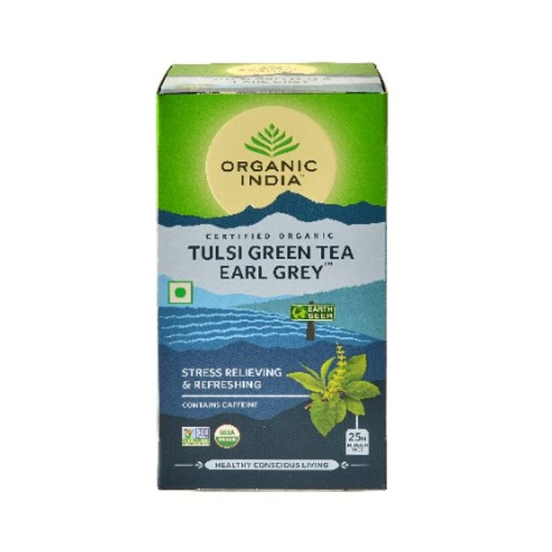 Organic India Tulsi Earl Grey Tea (25 Tea Bag)