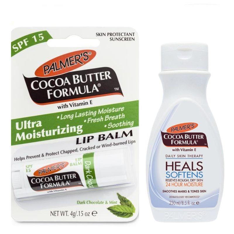 Palmers Lip Balm & Cocoa Butter Formula Body Lotion Combo