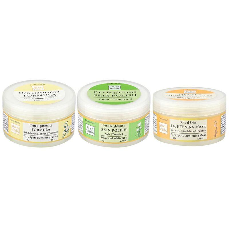 Auravedic Lighter Brighter Skin Combo (set Of 3)