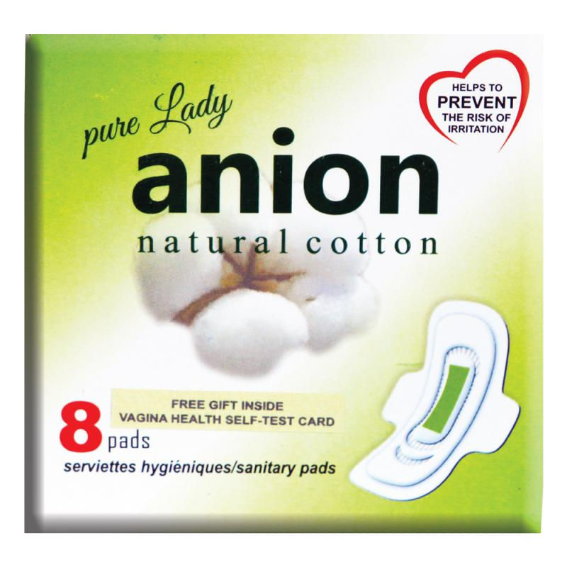 Happy Time Pure Anion Sanitary Pads Extra Large With Wing (8 Pads)
