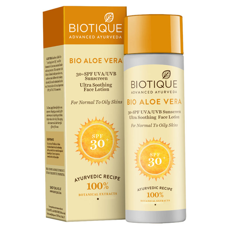Biotique Aloe Vera Ultra Soothing Face Lotion SPF 30 UVA/UVB Sunscreen