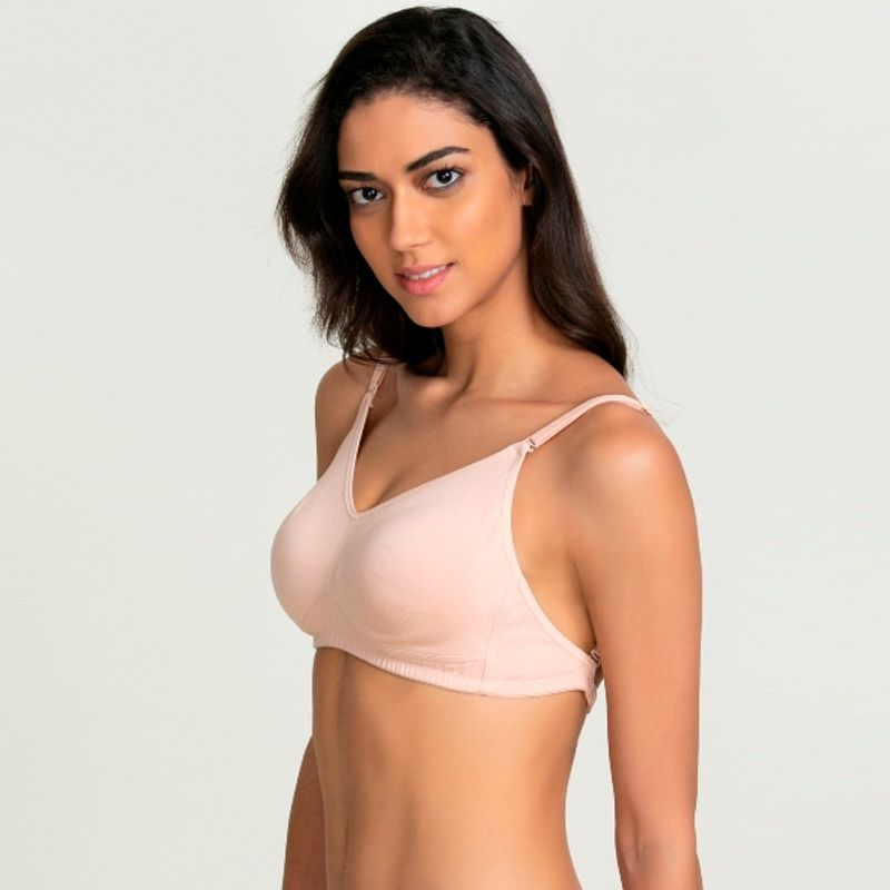 fcc312fac24f7 Zivame Wireless - Buy Zivame Rosaline Double Layered Wirefree Comfort  Backless Bra - Skin Online in India