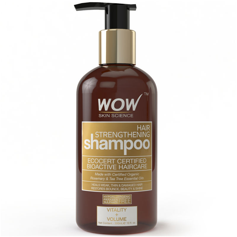 WOW Organics Hair Strengthening Shampoo Free Paraben Sulphate