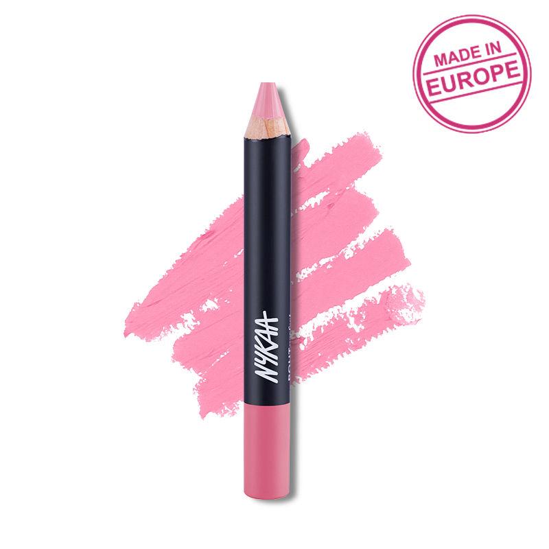Nykaa Pout Perfect Lip & Cheek Velvet Matte Crayon Lipstick - Smell The Roses 16