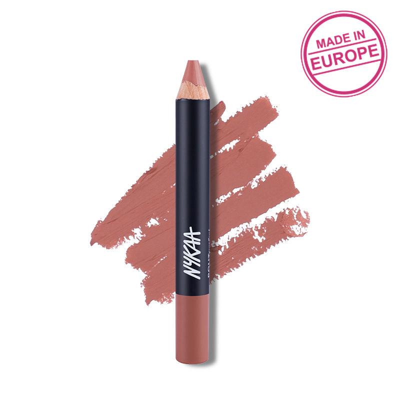 Nykaa Pout Perfect Lip & Cheek Velvet Matte Crayon Lipstick - Spice, Spice Baby! 21