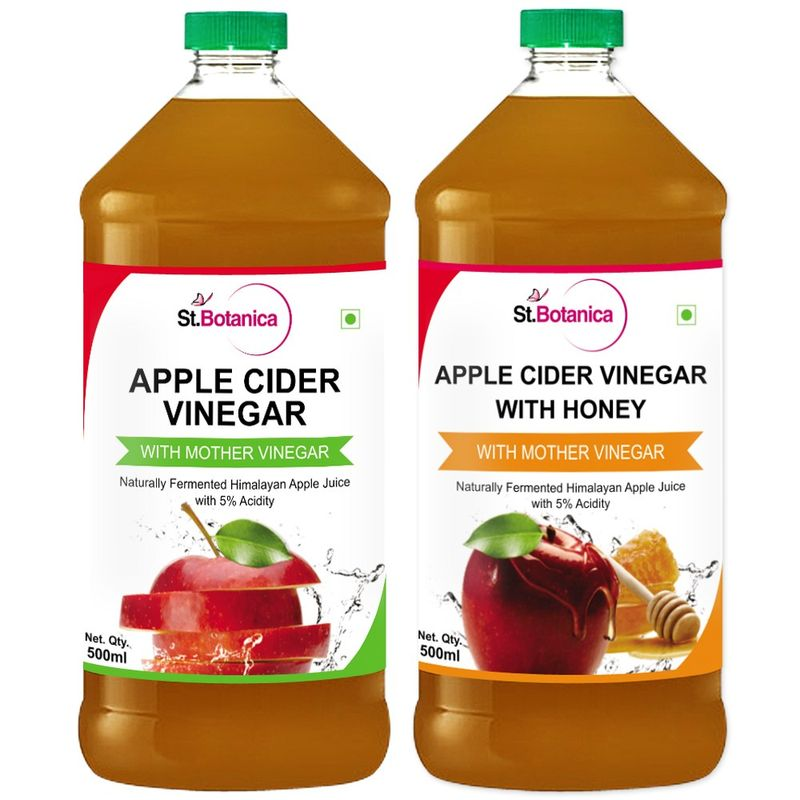 St.Botanica Apple Cider Vinegar With Honey + Apple Cider Vinegar