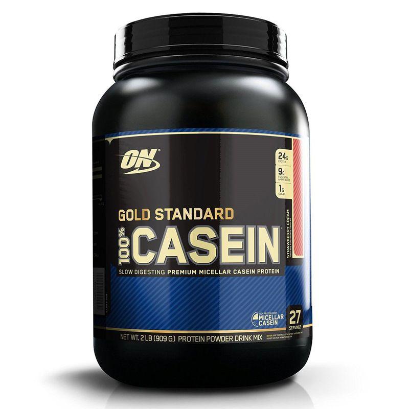 Optimum Nutrition (ON) 100% Casein Protein Powder (Strawberry Cream)