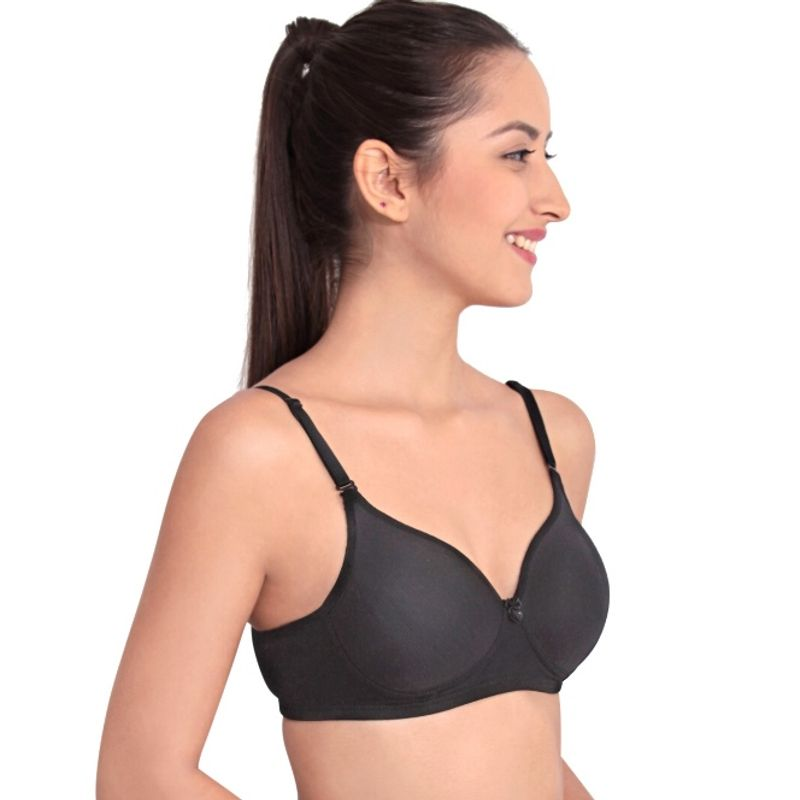 2cd5988580b2a Floret Push-up - Buy Floret Pack of 2 Solid Non-Wired Heavily Padded Push-Up  Bra - Black Online in India
