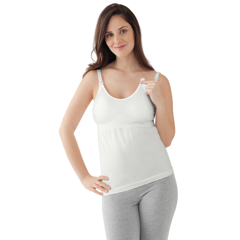 Medela Maternity & Nursing Tank Top - White