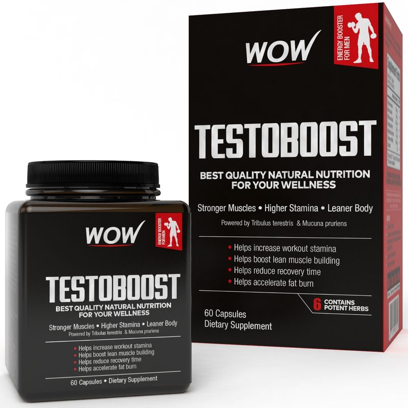 WOW Life Science Testoboost - 60 Capsules