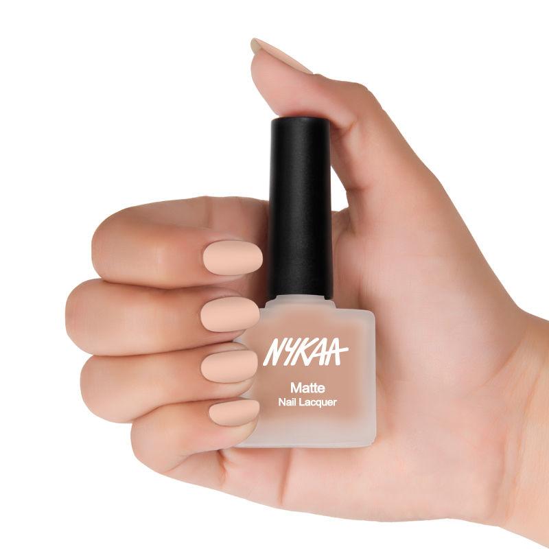 Nykaa Cosmetics Nail Polish - Buy Nykaa Matte Nail Enamel - Pink ...