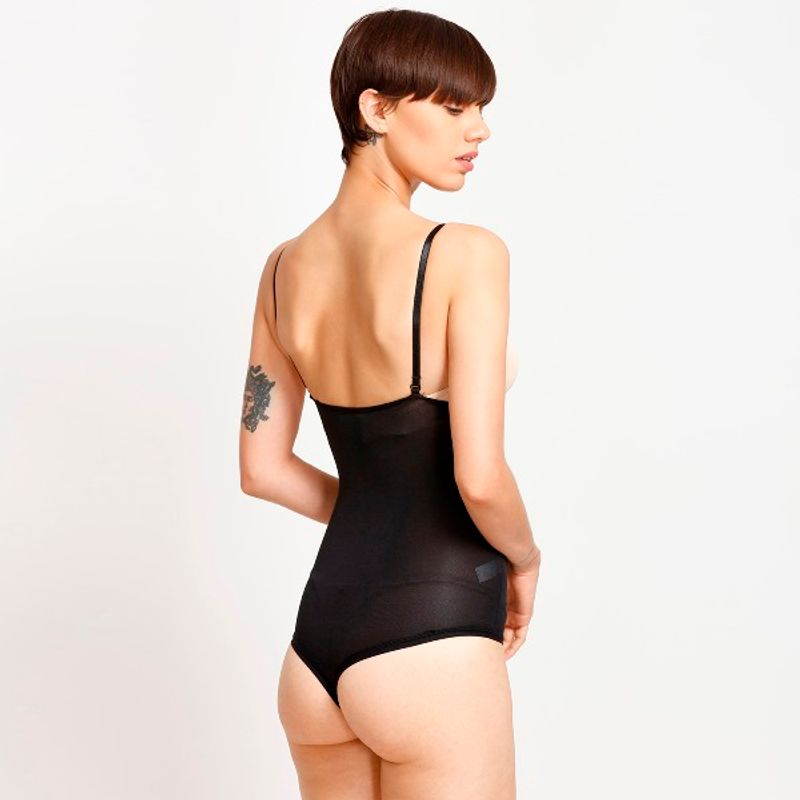 93cabaed27ed8 Zivame High Control Open-Bust Panty Bodysuit - Black at Nykaa.com