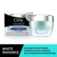 Olay White Radiance Brightening Night Essence Moisturiser - 50gm