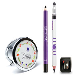 Plum Kajal Duo Combo with Free Mirror and Free Flip Tip Sharpener