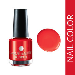 Lakme Absolute Gel Stylist Nail Polish - Tomato Tango