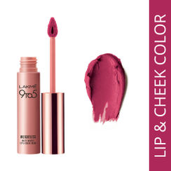 Lakme 9 to 5 Weightless Matte Mousse Lip & Cheek Color - Fuchsia Sude