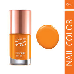 Lakme 9 to 5 Long Wear Nail Color - Saffron Space