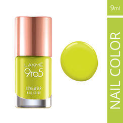 Lakme 9 to 5 Long Wear Nail Color - Lime Treat