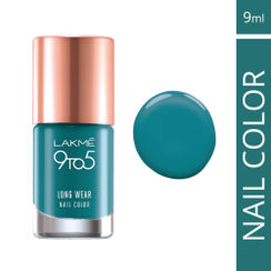 Lakme 9 to 5 Long Wear Nail Color - Teal Deal
