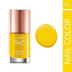 Lakme 9 to 5 Long Wear Nail Color - Yellow Raise